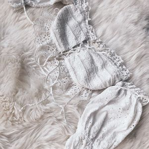 For Love And Lemons Tops - Anabelle Eyelet Lace Top - XS